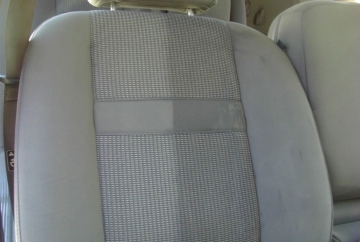 Vehicle Upholstery Cleaning (left side clean / right side dirty)