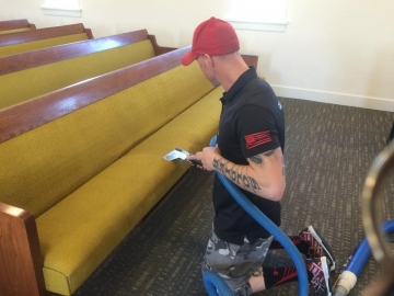 Upholstery Cleaning – church pews